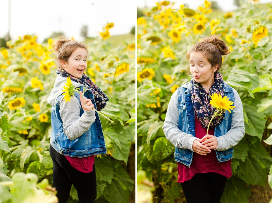Joelle's 6th Grade Portraits in Sunflower Field and Fort Harrison in Dayton, Virginia_0002