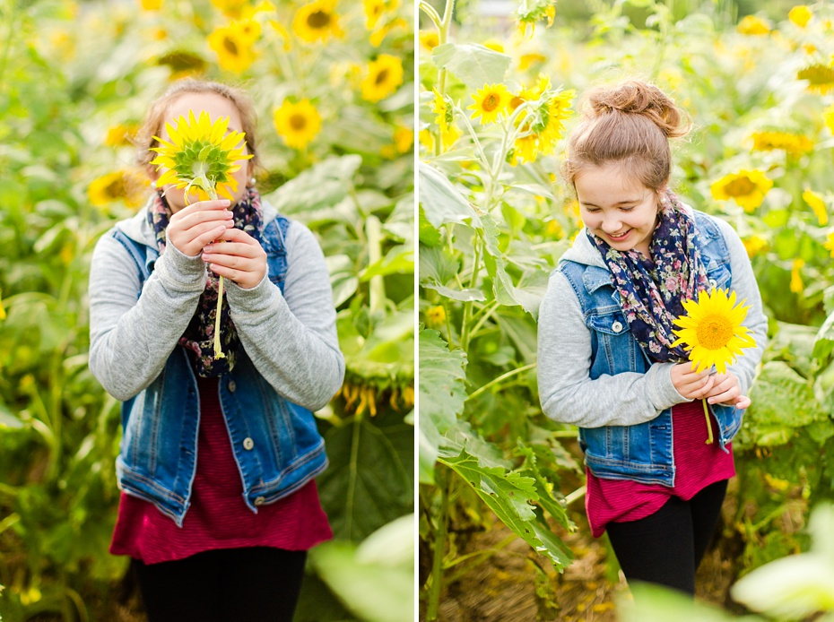 Joelle's 6th Grade Portraits in Sunflower Field and Fort Harrison in Dayton, Virginia_0003