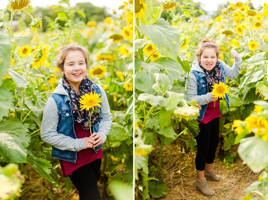 Joelle's 6th Grade Portraits in Sunflower Field and Fort Harrison in Dayton, Virginia_0005