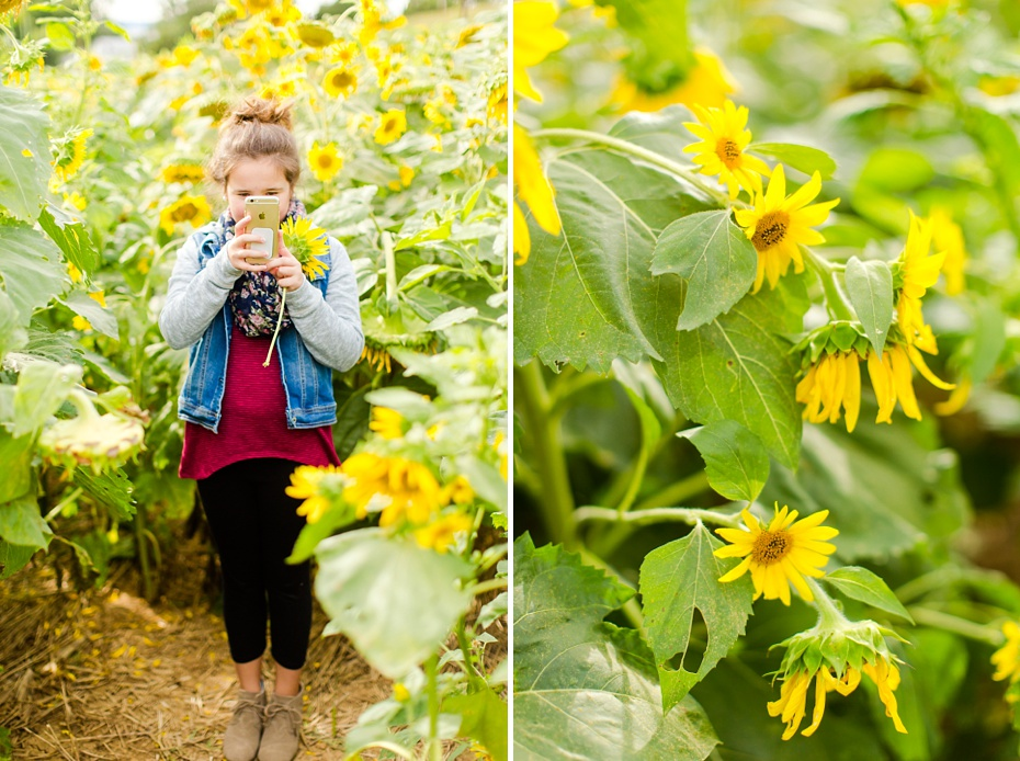 Joelle's 6th Grade Portraits in Sunflower Field and Fort Harrison in Dayton, Virginia_0006