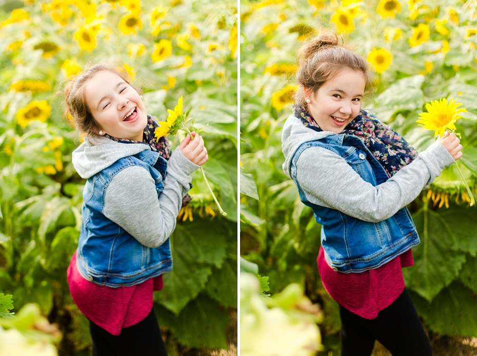Joelle's 6th Grade Portraits in Sunflower Field and Fort Harrison in Dayton, Virginia_0010