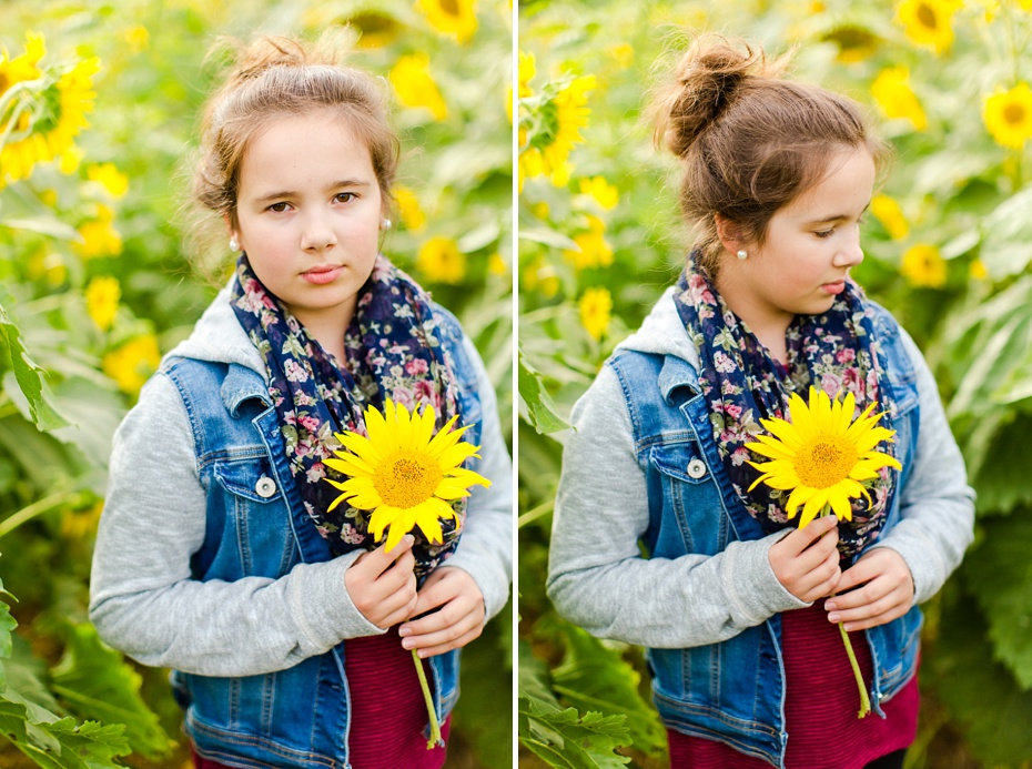 Joelle's 6th Grade Portraits in Sunflower Field and Fort Harrison in Dayton, Virginia_0013