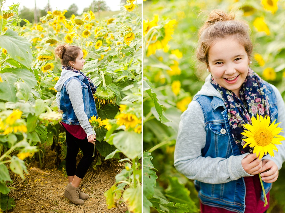 Joelle's 6th Grade Portraits in Sunflower Field and Fort Harrison in Dayton, Virginia_0014