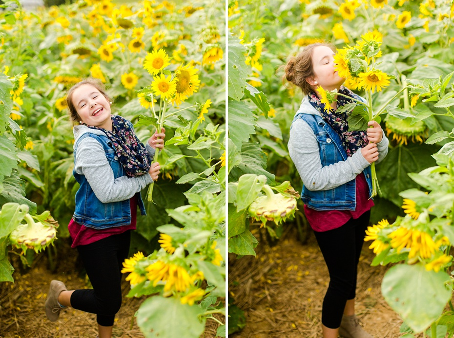 Joelle's 6th Grade Portraits in Sunflower Field and Fort Harrison in Dayton, Virginia_0015
