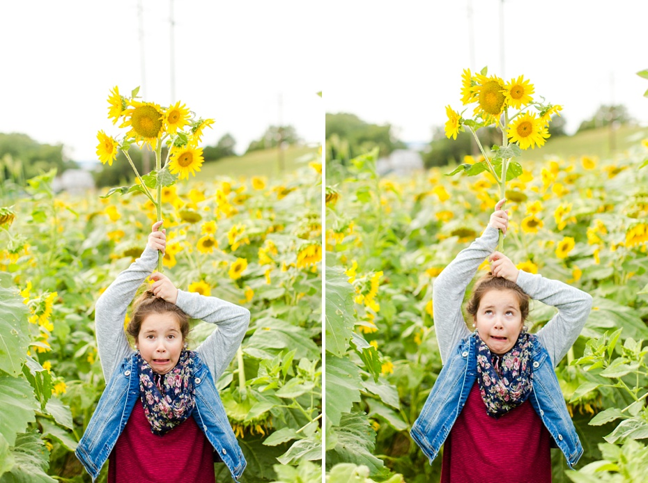 Joelle's 6th Grade Portraits in Sunflower Field and Fort Harrison in Dayton, Virginia_0017