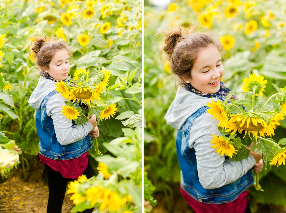 Joelle's 6th Grade Portraits in Sunflower Field and Fort Harrison in Dayton, Virginia_0018
