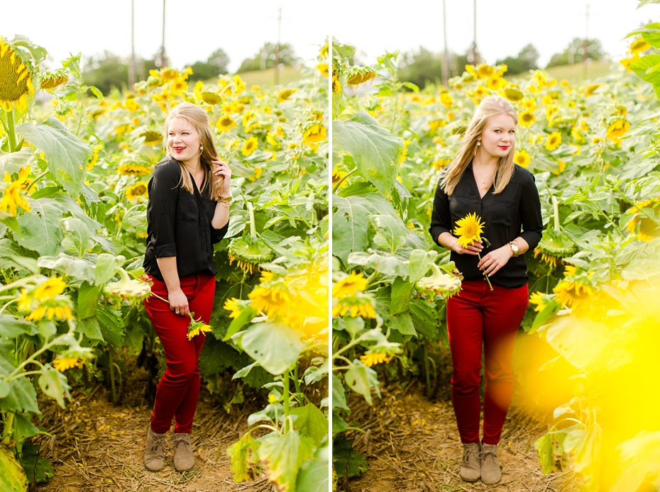 Joelle's 6th Grade Portraits in Sunflower Field and Fort Harrison in Dayton, Virginia_0019
