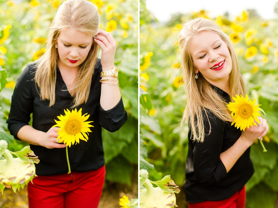Joelle's 6th Grade Portraits in Sunflower Field and Fort Harrison in Dayton, Virginia_0020