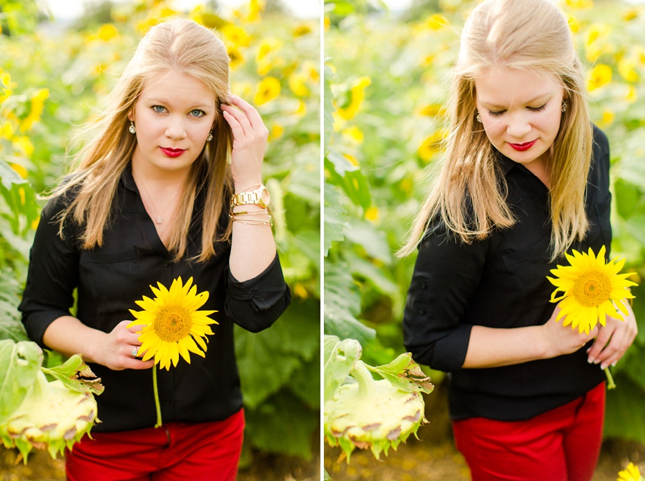 Joelle's 6th Grade Portraits in Sunflower Field and Fort Harrison in Dayton, Virginia_0021